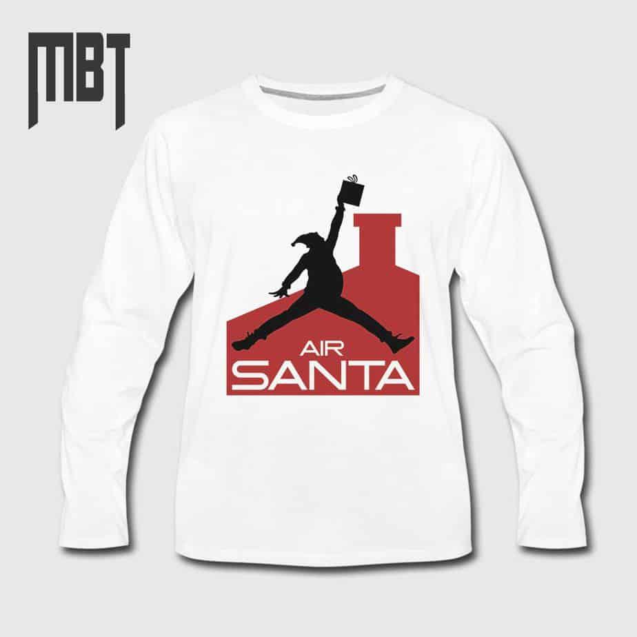 Jordan ShirtSanta Long Shirt Sleeve Air T Christmass Claus Tee UqSzVMp