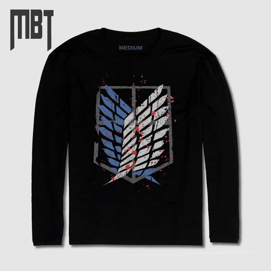 Attack on Titan Long Sleeve T-Shirt, Attack on Titan Anime ...