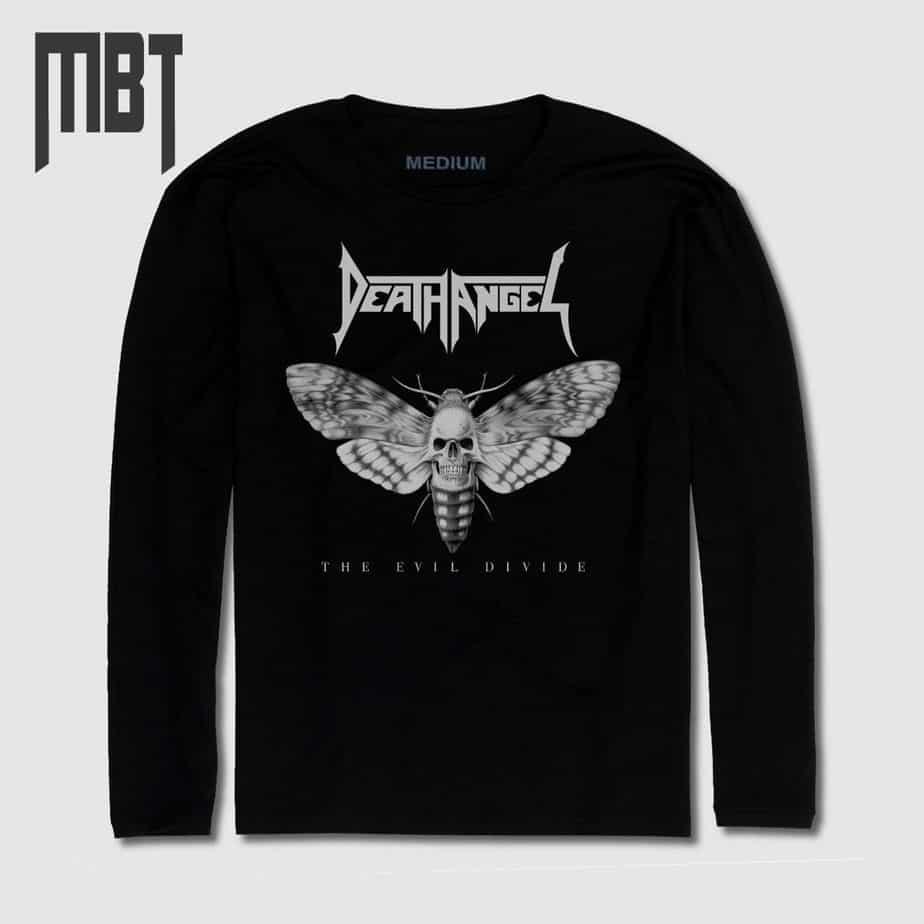 Regular//Coupe Standard DEATH ANGEL The Evil Divide Homme T-Shirt Manches Courtes Noir