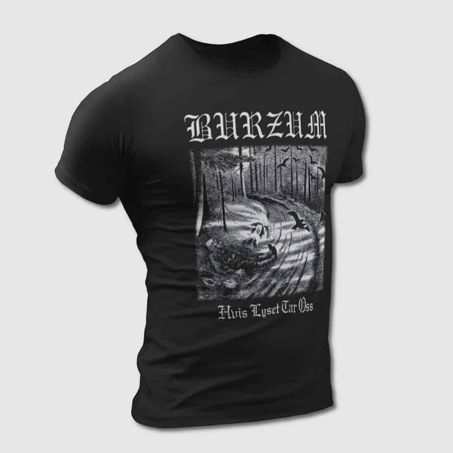 Burzum T-Shirt, Burzum Hvis Lyset Tar Oss Tee-Shirt – MBT ...